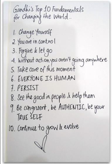 Gandhi's rules