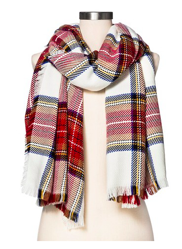Cozy Plaid Blanket Wrap Scarf $19.99