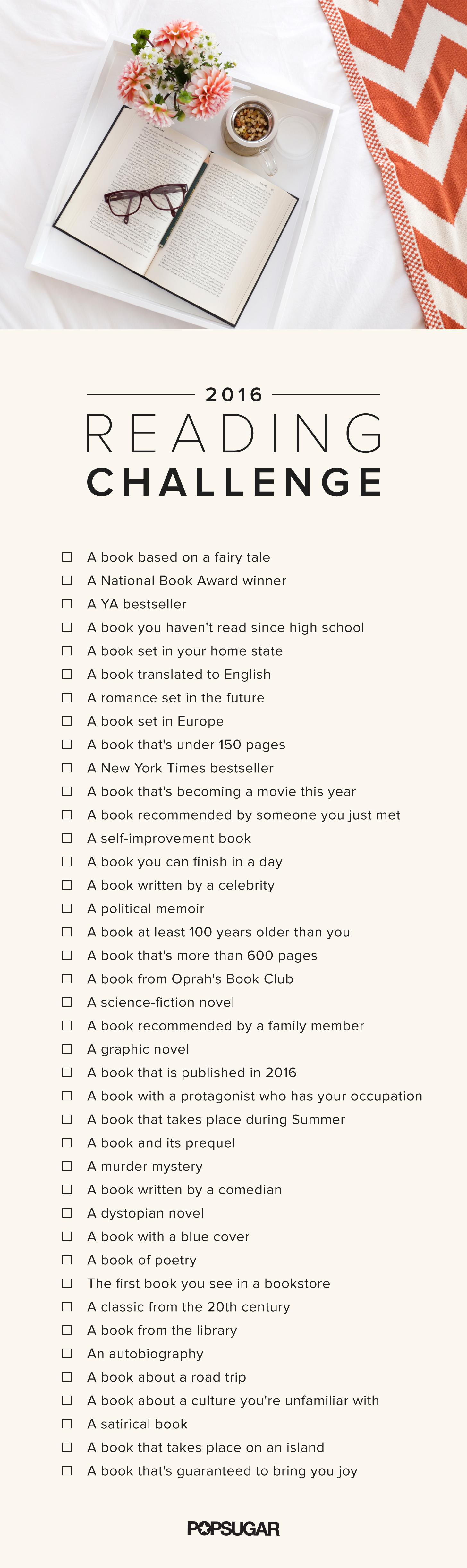 POPSUGAR's Reading Challenge 2016