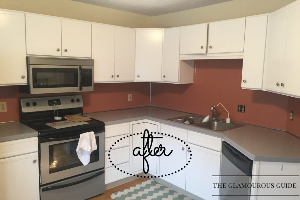... how easy and affordable my DIY kitchen countertop makeover was