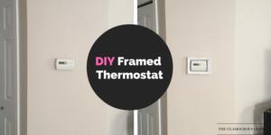 DIY Framed Thermostat